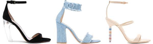 valentino, gianvitto rossi, and sophia webster heeled sandals