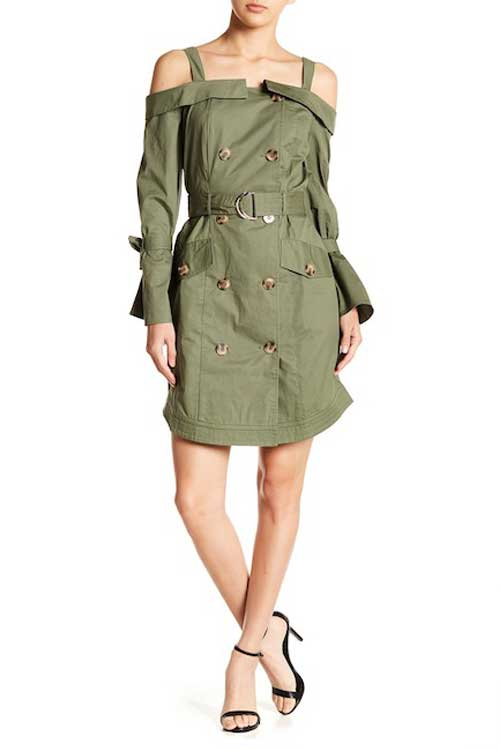 W118 by Walter Baker olive trench dress