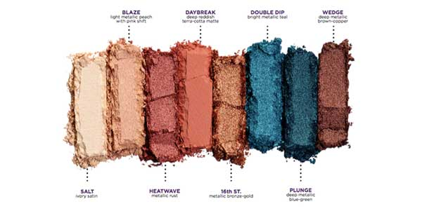 urban decay beached palette shades
