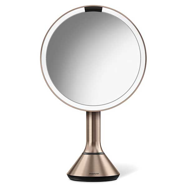 Round LED counter top mirror