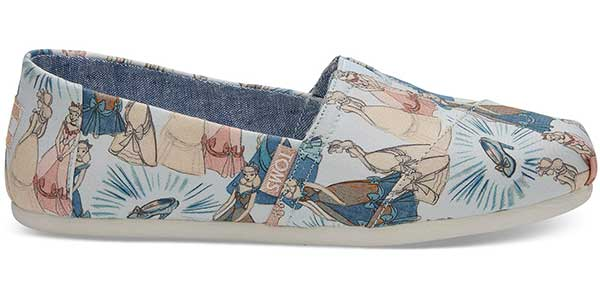 blue Cinderella printed fabric TOMs