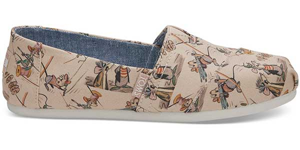 taupe Cinderella mice themed printed fabric TOMs