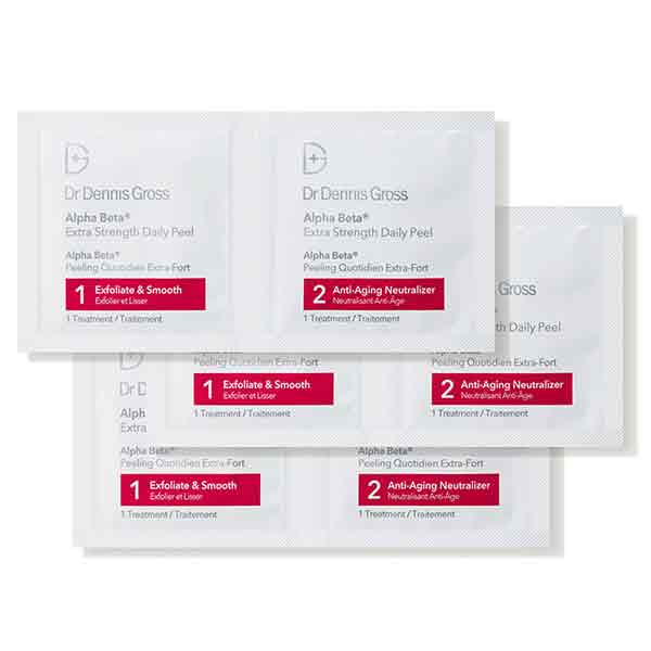 face peel treatment packets