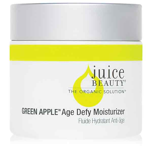 jar filled with a green apple facial peel
