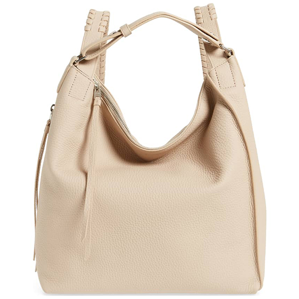 Cream leather convertible backpack