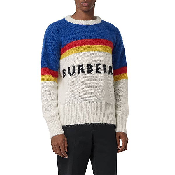 Colorful striped men's Burberry sweater