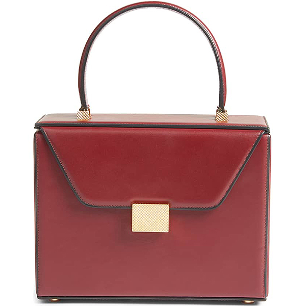 Bordeaux Victoria Beckham top handle box bag
