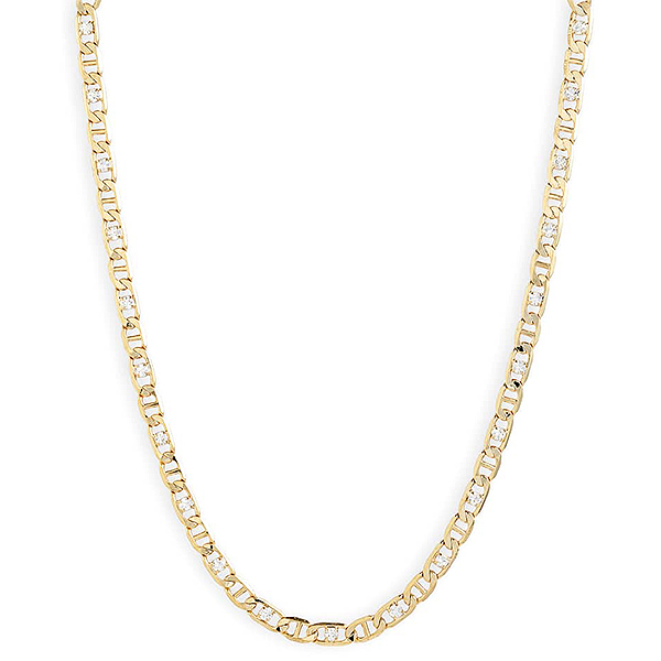 8 Other Reasons gold and rhinestone chain necklace