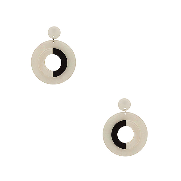 8 Other Reasons white and black plastic statement earrings