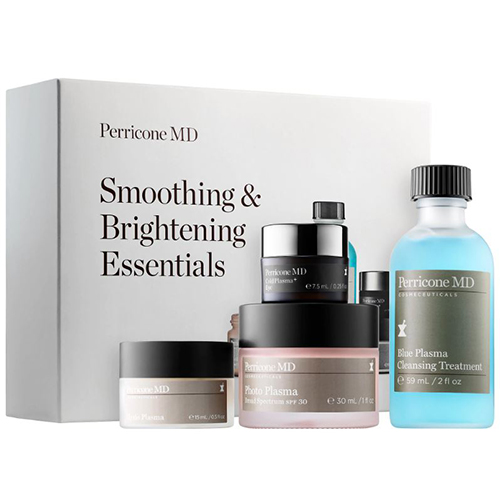 Smoothing and brightening skincare products set