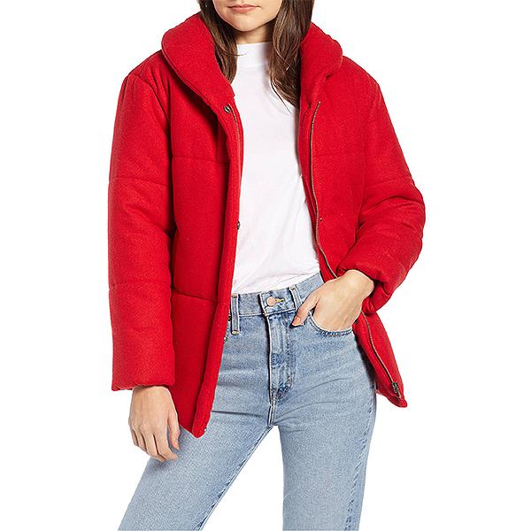 Nordstrom Sale, Something Navy red puffer jacket