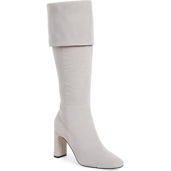 Nordstrom Sale, Something Navy light grey suede knee high boot