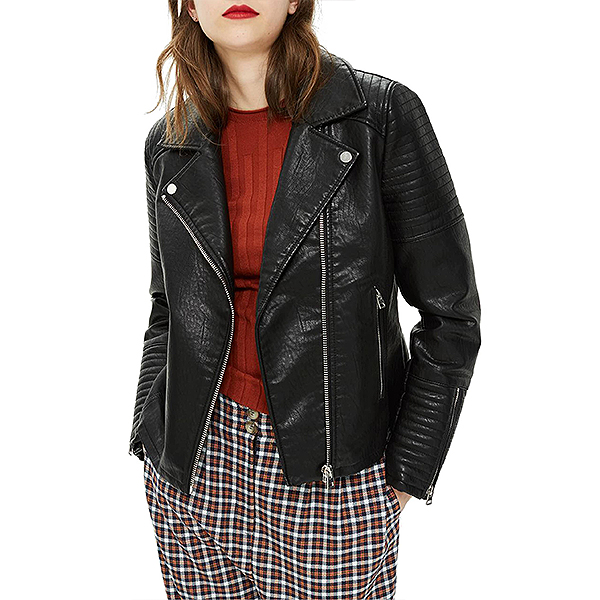 Nordstrom Sale, Topshop black leather jacket