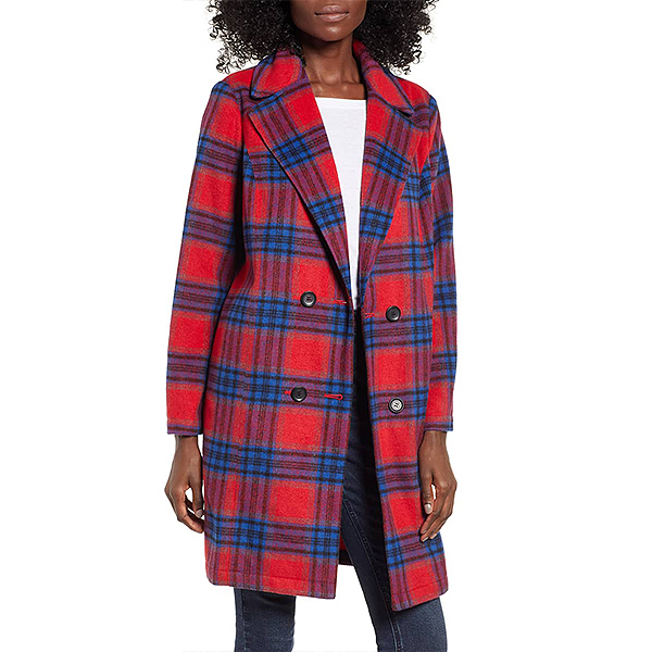 Nordstrom Sale, BP. red and blue plaid coat