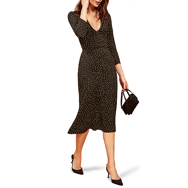 Nordstrom Sale, Reformation polka dot midi dress