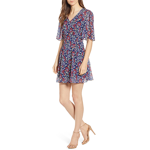Nordstrom Sale, The Fifth Label blue floral dress