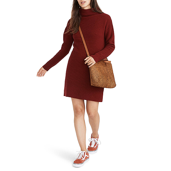 Nordstrom Sale, Madewell burgundy sweater dress