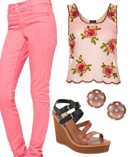 3 Ways to Wear Pink Skinny Jeans