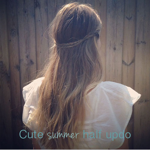 How to Create a Cute Summer Half-Updo