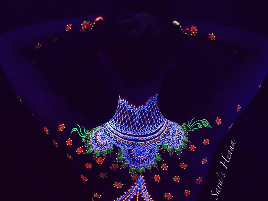 This Is Why UV Henna Art Is Going To Be The Next Big Festival Trend