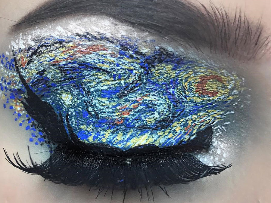 You Need To See This Makeup Artist's Eyeshadow Inspired By Famous Paintings