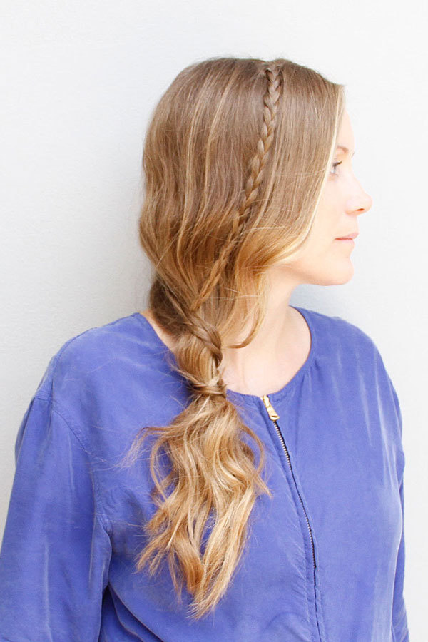 Wear This Hair: Side Ponytail with Micro Braids