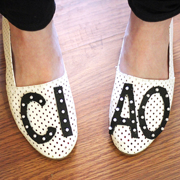 DIY Flats: Make These Sweet Statement Shoes in Minutes